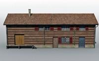 swiss train station 3d model