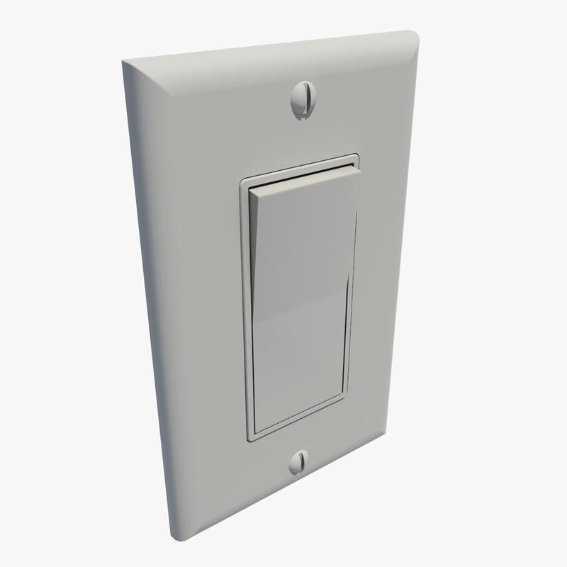 3d light switch model