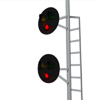 Railroad / Train Signal Lights: C4D Format