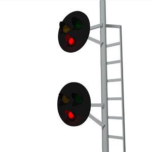 3d model signal lights