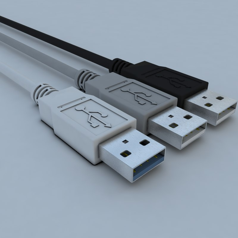 3d real usb connector