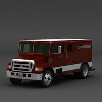Armored money truck