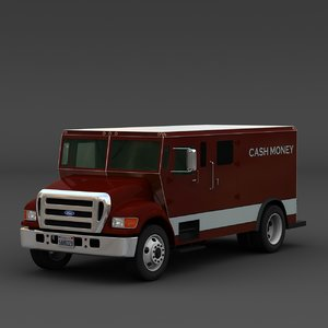 3d armored money truck model