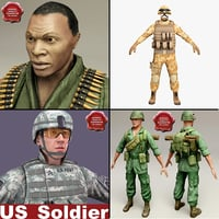 3d soldiers machine clothes