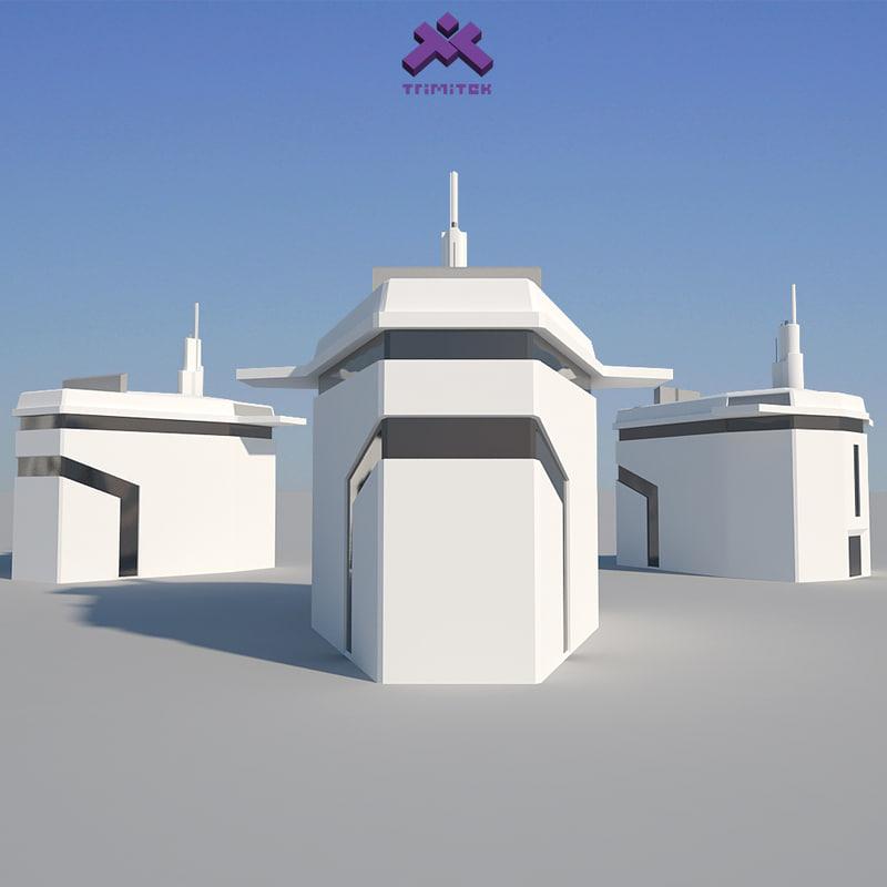 3d modern industrial building model