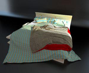 bed pillows 3d max
