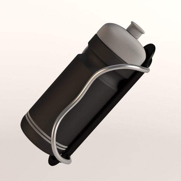 3d bottle bicycle holder model