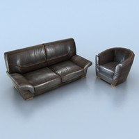 3d model of real time leather