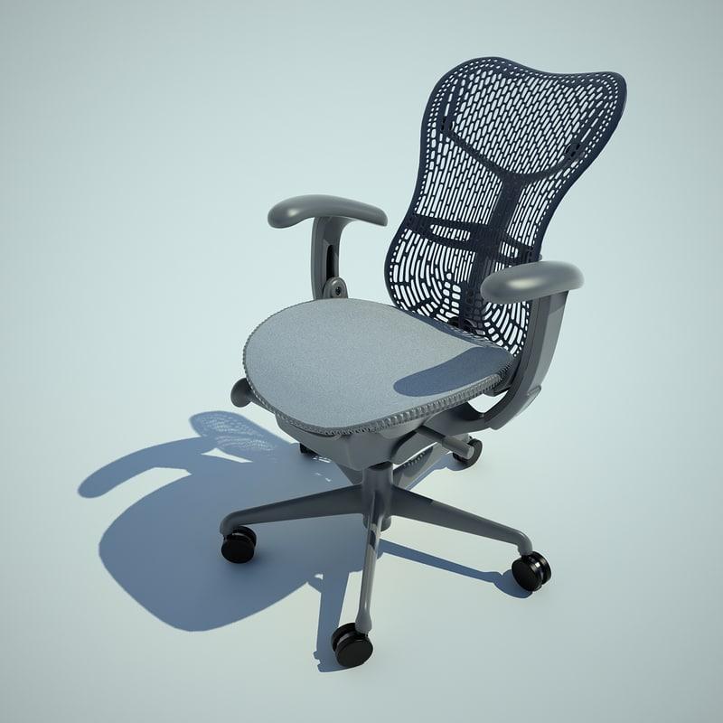 mirra task chair 3d model