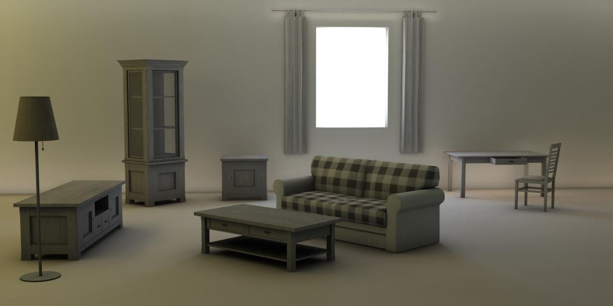 livingroom assets 3ds