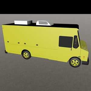 delivery truck c4d