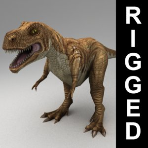 3d 3ds rigged tyrannosaurus rex