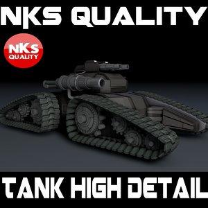 3d tank ev model