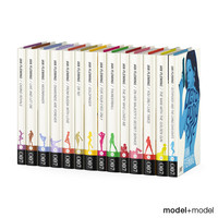 3d james bond series books model