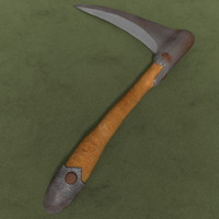 medieval hatchet 3d model
