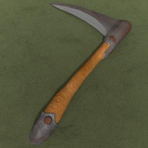 medieval hatchet 3d model