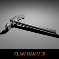 metallic claw hammer 3d model