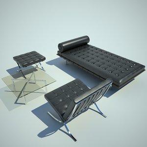 3d chair knoll sofa model