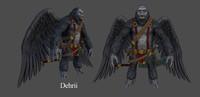 3d model of creature flying ape
