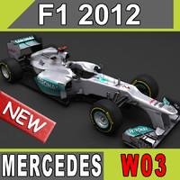 2012 Mercedes AMG W03