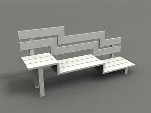 3d model of park chair strange benches