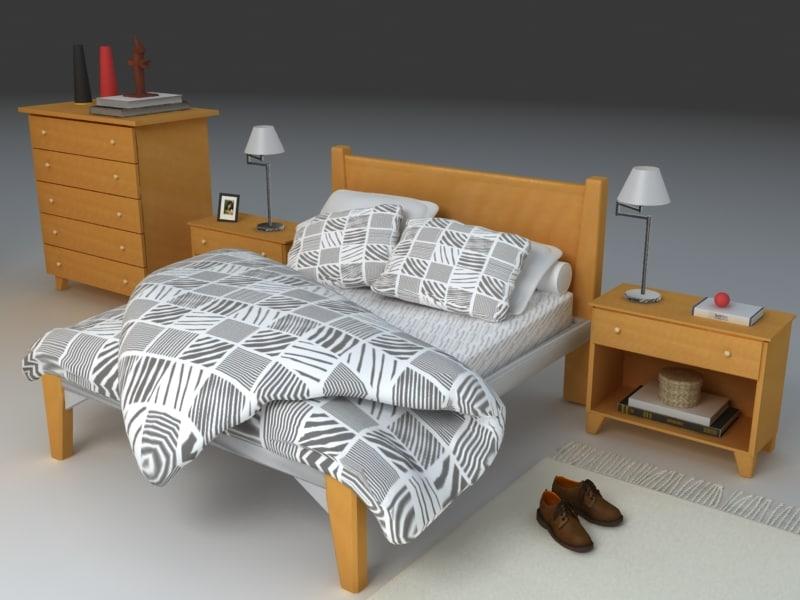 3d bedroom room