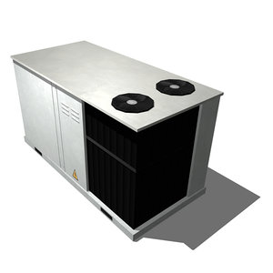 3d rooftop air conditioner model