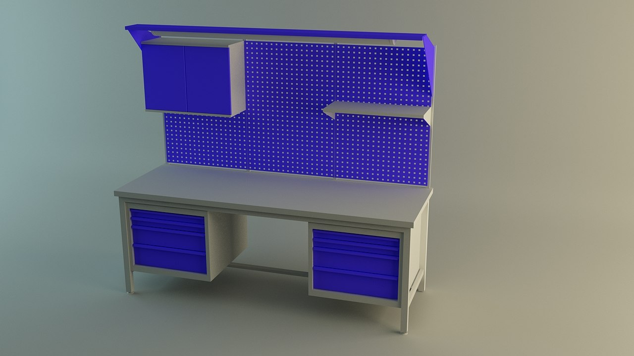 table work 3d 3ds
