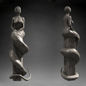 woman statue worm max