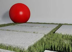 grass footwalk 01 3d model