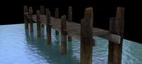 3d model dock old