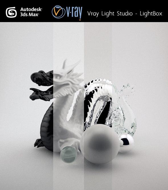3d studio light setup model