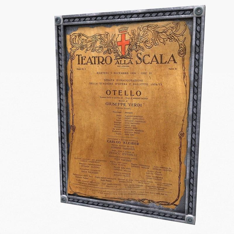 3d frame metal poster