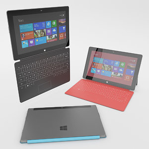 photorealistic microsoft surface cover 3d model