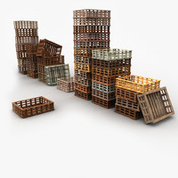 Wooden Fruit Crates Collection
