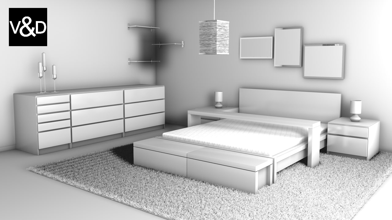 3dsmax ikea malm furniture. Black Bedroom Furniture Sets. Home Design Ideas