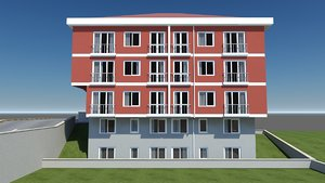 red building 3d max