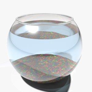 3d model fish bowl fishbowl