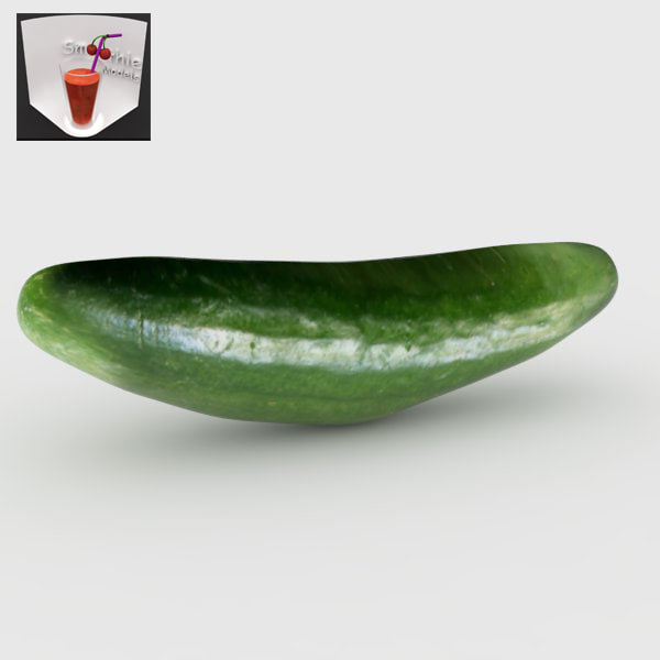 3d model of green cucumber