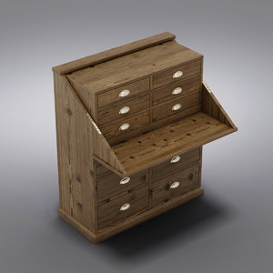 3ds max crate barrel - storage