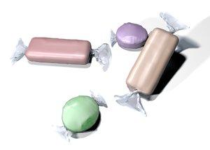 3d model of candy bonbon