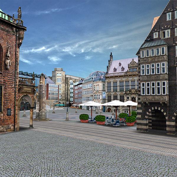 old town bremen 3d model