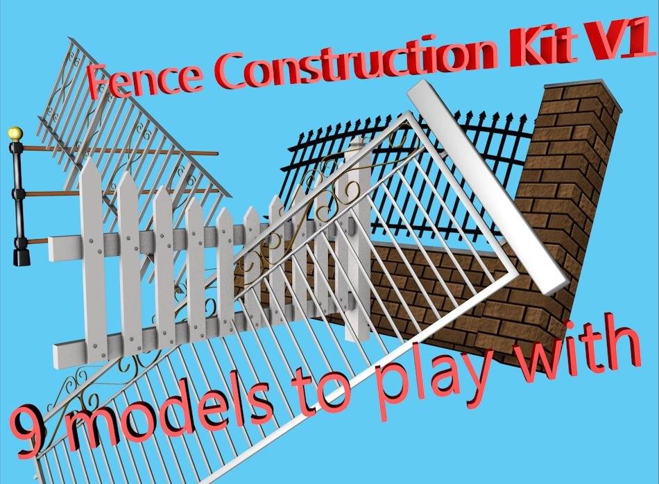 3d model fence construction