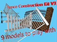 3D Fence Construction Kit