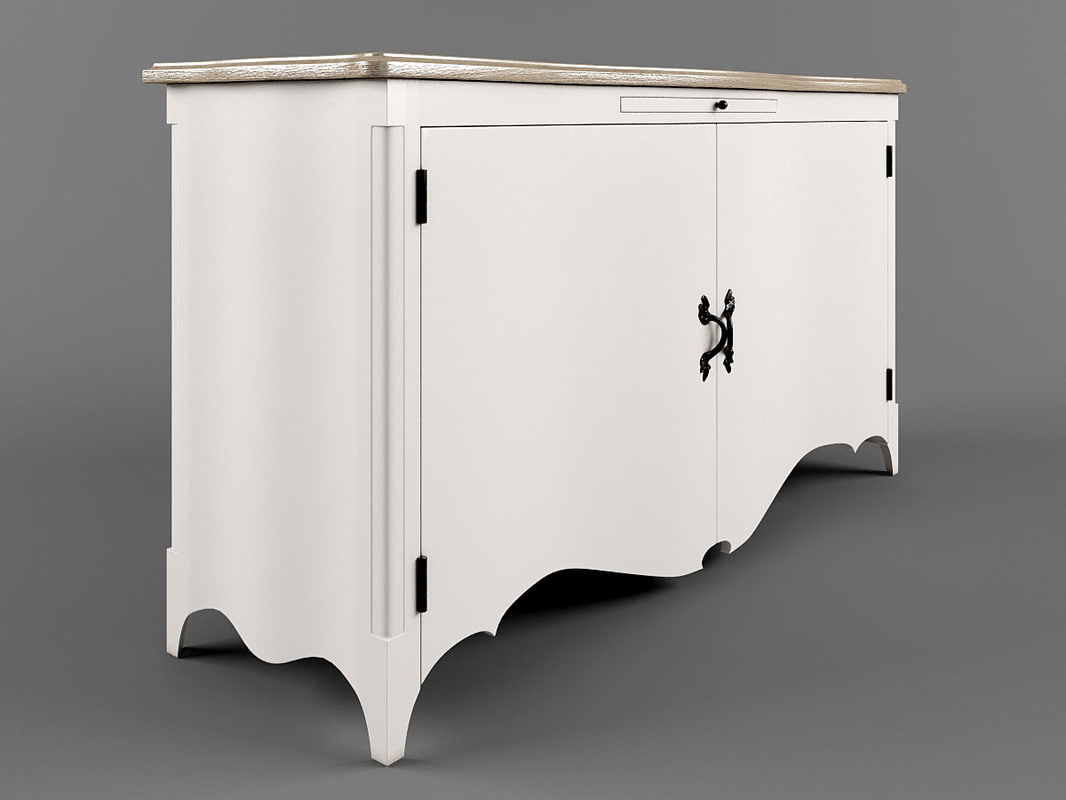 3d model of sideboard dialma brown db001372