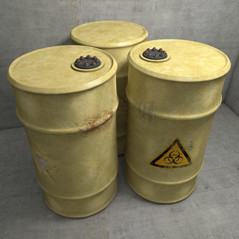 editable metal barrel c4d