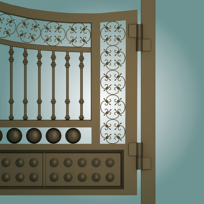 3dsmax old gate