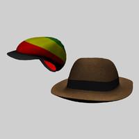 rastafarian hats 3d max