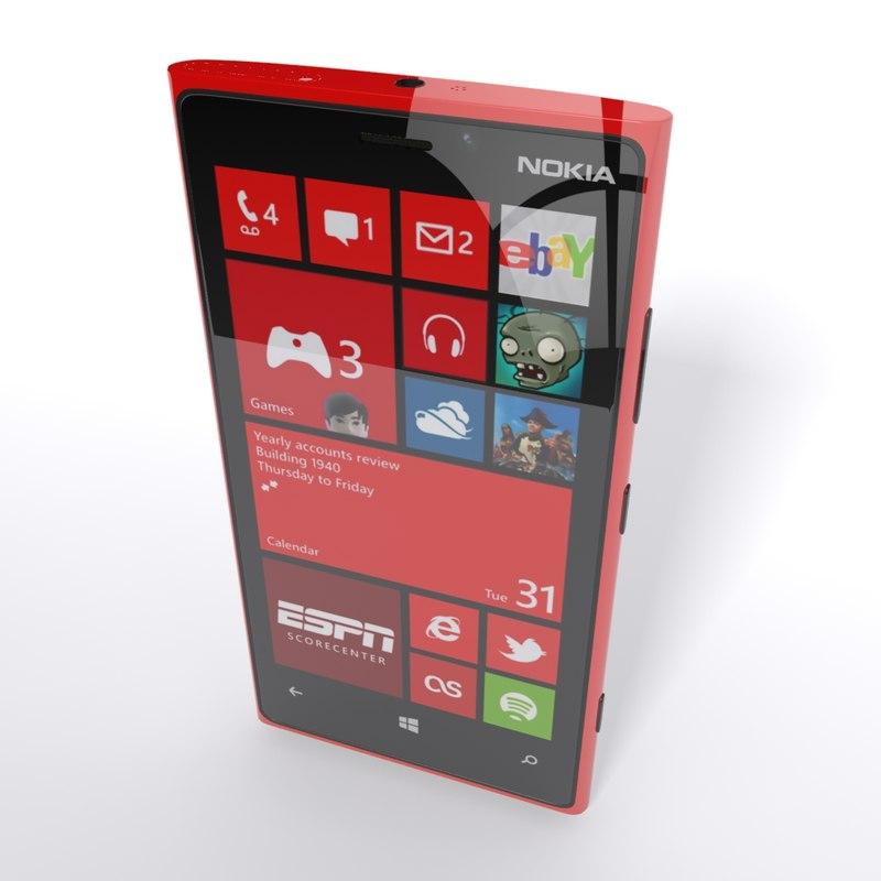 3d 3ds nokia lumia 920