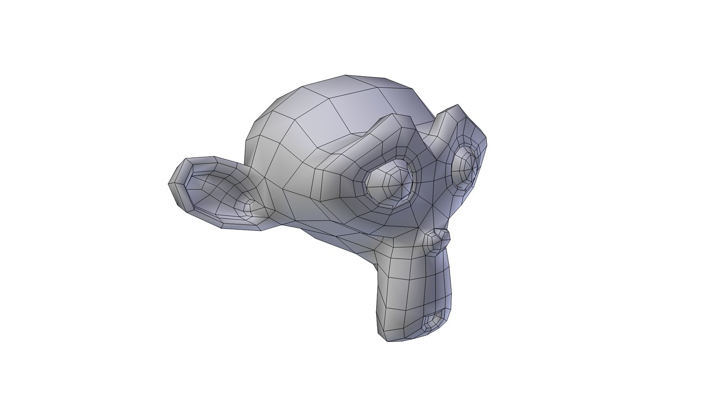 free suzanne head 3d model